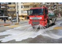 Karaköprü'de yollar dezenfekte edildi