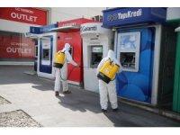 Haliliye'de ATM'ler dezenfekte ediliyor