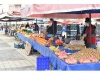 Lapseki'de pazara dışarıdan esnaf alınmadı