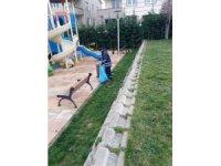 Ergene'deki parklar yıkanıp temizleniyor