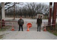 Tabiat parkı ziyaretçilere kapatıldı