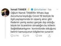 AK Partili Tamer'den Virüs Kiti İddialarına Yanıt