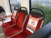Samsun'da tramvayda korona önlemi