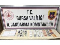 Bursa'da jandarmadan kumarhane baskını
