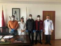Grizu-263 Uzay Takımı'ndan sağlık çalışanları için 3D yazıcıyla siperli maske üretimi