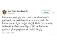 Buse Terim'den Fatih Terim'in sağlık durumuna ilişkin açıklama