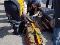 Tırın çarptığı adam yaralandı