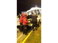 Edremit ışıklarda kaza: 1 yaralı