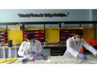 Hakkari'de siperlik maske üretimi