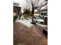 Bismil'de sokaklar dezenfekte ediliyor