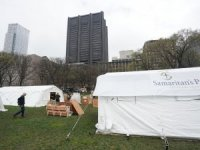 New York'ta Central Park'ta sahra hastanesi kuruldu