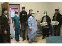 Van'da sağlık çalışanlarına pizza sürprizi