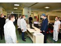 Vali Gürel, hastaların gözlem altında tutulacağı bölümleri gezdi