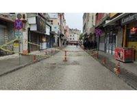 Samandağ'da ilçe merkezi trafiğe kapatıldı
