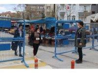 Elazığ'da pazarlarda korona virüs önlemi