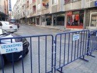 Edirne'de caddeler trafiğe kapatıldı