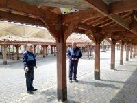 Tarihi kentte pazar yeri düzenlemeleri yapıldı