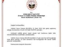 Kırklareli Valisi Osman Bilgin korona virüse yakalandı