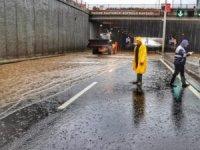 DİSKİ, sağanak yağış nedeniyle 21 ekip ve 55 personelle çalışma yaptı