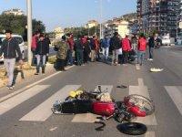 Alanya'da otomobille motosiklet çarpıştı:1 ağır yaralı