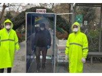 Erdek'te dezenfektan istasyonu kuruldu