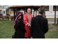 Bursa'da o ilçede nikahlar açık havada kıyılıyor