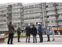 Trabzon'un şehir merkezindeki cephe sağlıklaştırma çalışmaları sürüyor