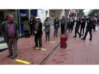 Nazilli polisinden asırlık Perşembe Pazarında sıkı önlem