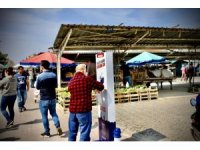 Didim'de semt pazarlarına mobil dezenfekte noktaları yerleştirildi