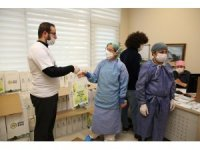 Başakşehir Belediyesi sağlık çalışanlarının yanında