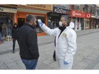 Ağrı'da koronavirüs önlemleri kapsamında işlek caddelerde önlemler arttırıldı