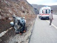 Yağışlı hava kazaya neden oldu: 4 yaralı