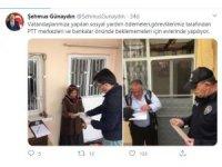 Yardım ödemeleri vatandaşların adreslerinde yapılıyor