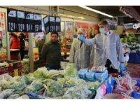 Edirne'de market ve fırınlara korona virüs denetimi