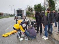 Terme'de motosiklet kazası: 1 yaralı