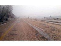Sivas'ta Nisan ayında kar sürprizi