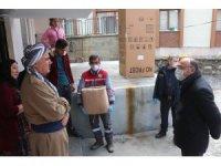 Çukurca belediyesi ve ilçe  emniyetinden ortak yardım kampanyası