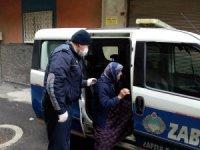 Büyükşehir Zabıta evde kalan yaşlıları unutmadı