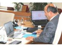 Müdür Hasan Başyiğit'ten telekonferanslı toplantı