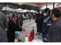 Bolu'da, pazar girişi yerlerine kontrol noktası kuruldu