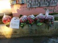 Gizli hayırseverden sebze yardımı