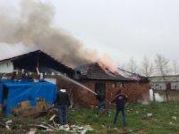 Cumayeri'nde tek katlı ev alev alev yandı