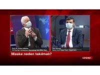 Elazığ'da televizyon programını maske takıp yaptılar