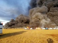 Florida'da 3 bin 500 araç alev alev yandı