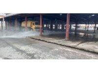 Semt pazar yerleri dezenfekte ediliyor