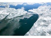 Buzları çözülen Nazik Gölü'nden büyüleyen görüntü