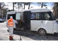 Tatvan'da araçlar her gün dezenfekte ediliyor