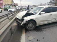 E-5 trafiğini kilitleyen kaza: 1 yaralı
