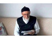 """78 yaşındaki Mehmet amcadan şiirli """"evde kal"""" çağrısı"""