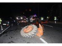 Alkollü sürücü traktöre arkadan çarptı: 3 yaralı